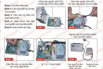 Cách lắp bộ lưu điện cửa cuốn