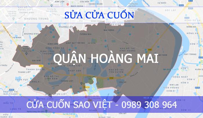sửa cửa cuốn quận Hoàng Mai