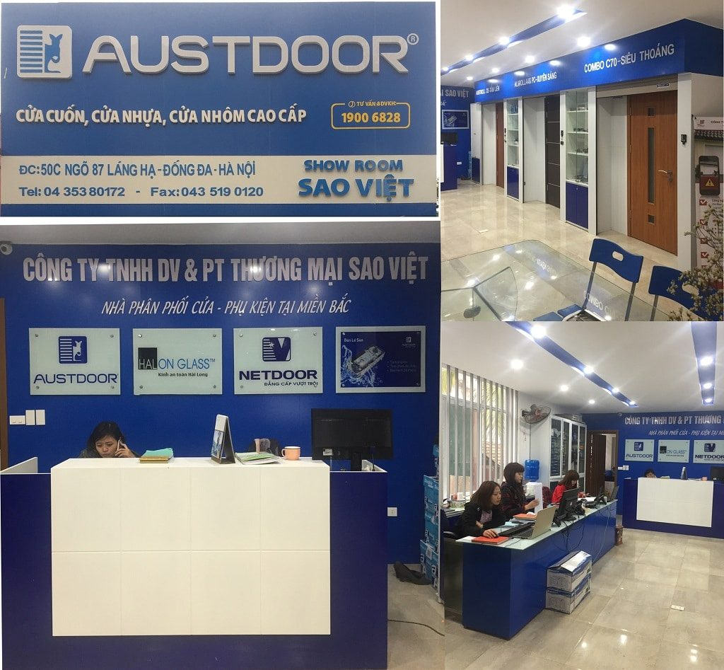 Showroom cua cuon Sao Viet