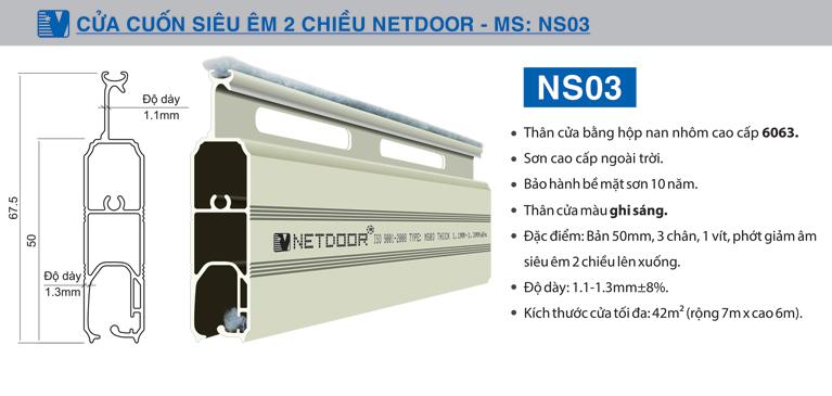 Cửa cuốn NEtdoor NS03