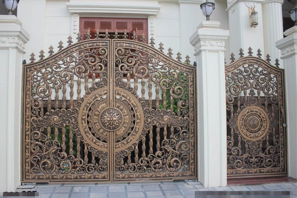 Mẫu cửa cổng đúc đẹp 5